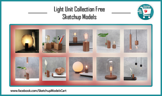 Light Unit Collection Free Sketchup Models , sketchup models , 3d model sketchup , free sketchup models , 3d rendering , 3d modelling , sketchup vray render