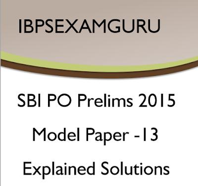 SBI PO Model Paper