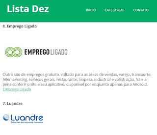 site listadez.com dicas de emprego