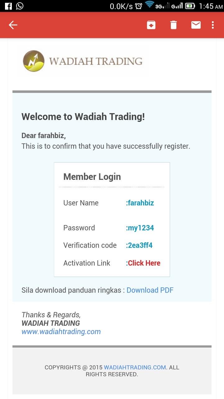Wadiah forex