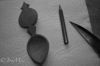 spoon carving blank+spoon carving