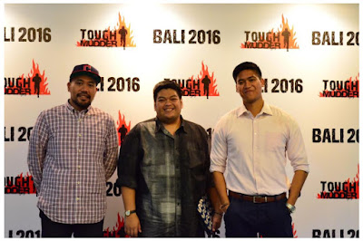 Source: Tough Mudder Indonesia. Chairi Ibrahim, Project Manager, Seroja Partners (left), Gandrasta Bangko, Business Director, Mesa Race (middle) and Ridzki Syahputera, Partner, Seroja Partners (right) at the launch of Tough Mudder Indonesia.