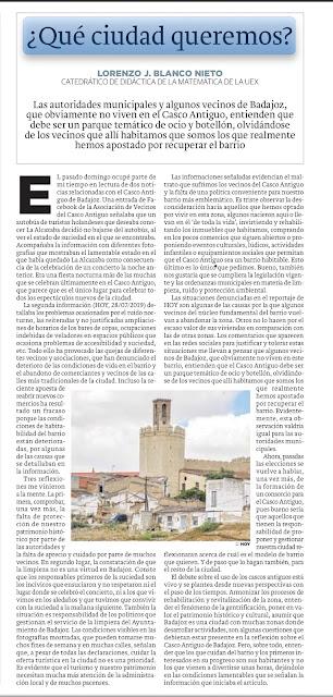 ¿Qué ciudad queremos? Badajoz Casco Antiguo Lorenzo J. Blanco