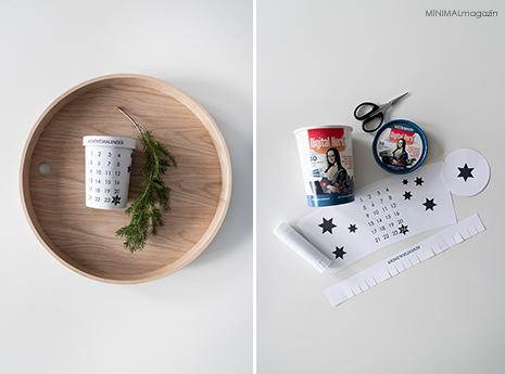 Ein Adventskalender im Becher für Erwachsene - DIY mit Anleitung und Druckvorlage!
