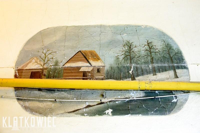 Gniezno: zimowy krajobraz na klatce schodowej