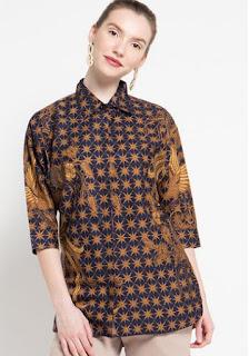 Desain Model Baju Batik Atasan Terkini