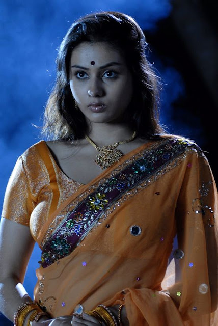 Namitha Hot Photos in Orange Saree