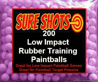 50 Cal Rubber Training Paintballs 200 Pack