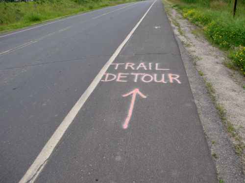 trail detour