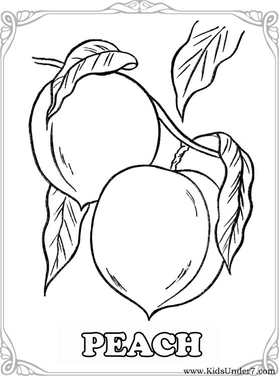 Kids Under 7 Fruits And Berries Coloring Pages