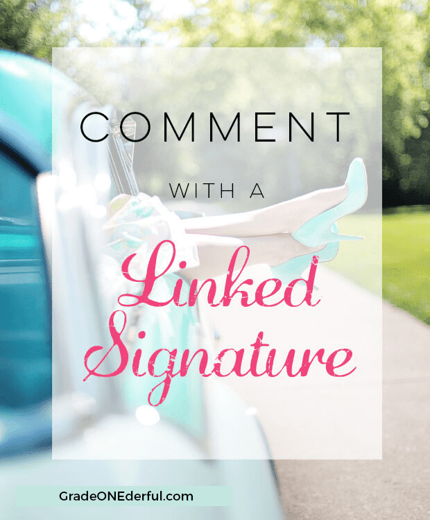 Blogger Tutorial: How to Leave a Comment with a Linked Signature