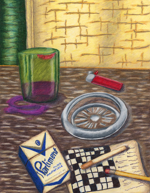 Colored pencil drawing -- still life