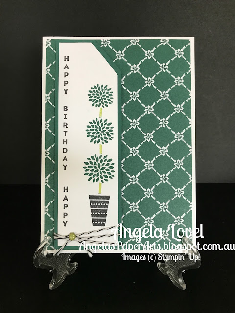 Stampin' Up! Tranquil Tide Vertical Greetings card by Angela Lovel, Angela's PaperArts
