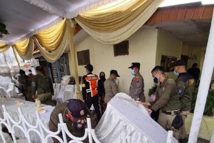 Hajatan pernikahan di Surabaya di bubarkan karena langgar prokes saat PPKM
