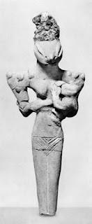 Reptilienfigur Mesopotamien