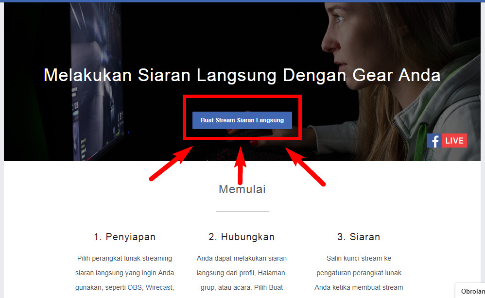 Cara Live Streaming Facebook menggunakan Streamlabs Android