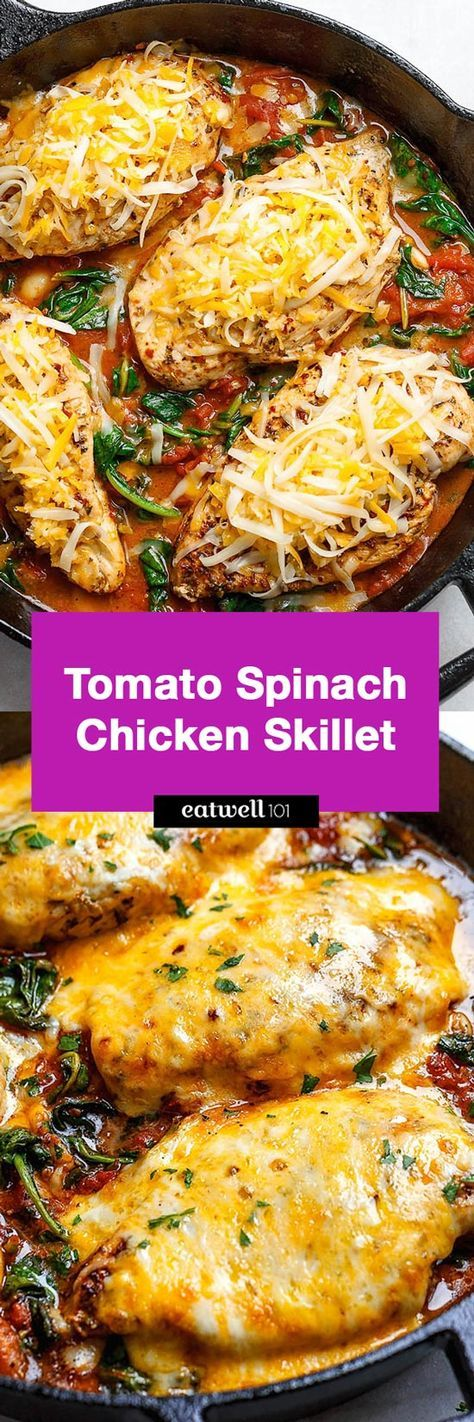 Tomato Spinach Chicken Skillet (Low Carb – Keto)