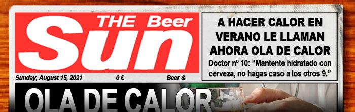 Dominical suplemento de noticias sobre cerveza. Aquí puedes leer el periódico The Beer Sun.