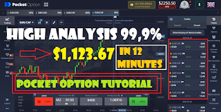 Extraordinary trading profit using Fxxtool V 1.4.2 at the Pocket Option broker