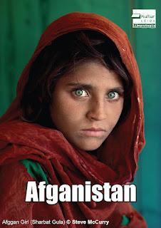 """Steve McCurryren """"Afghan Girl"""" argazkia"""