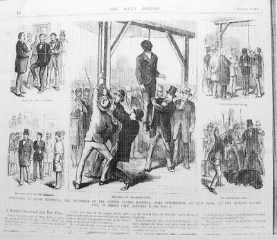 The 1874 execution of Jacob Mechella in New Jersey.