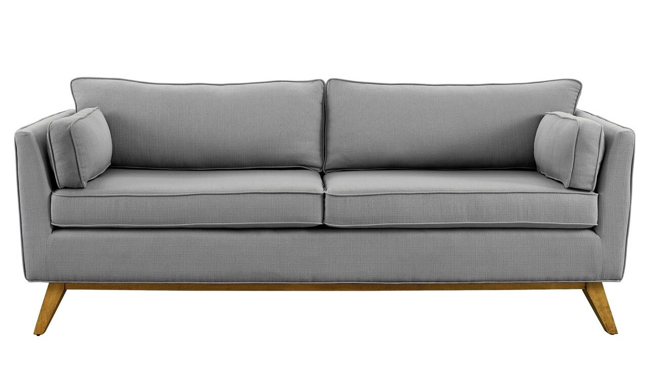 Gray modern sofa modern sofas leigh wool sofa eurway for Couch and loveseat