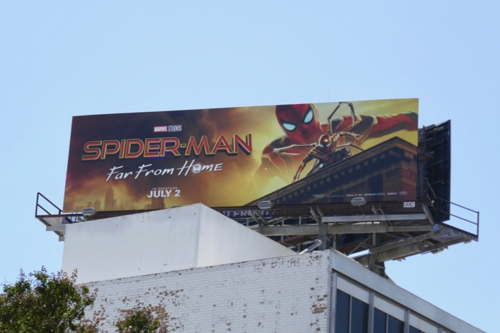 SpiderMan Far From Home Iron Spider billboard