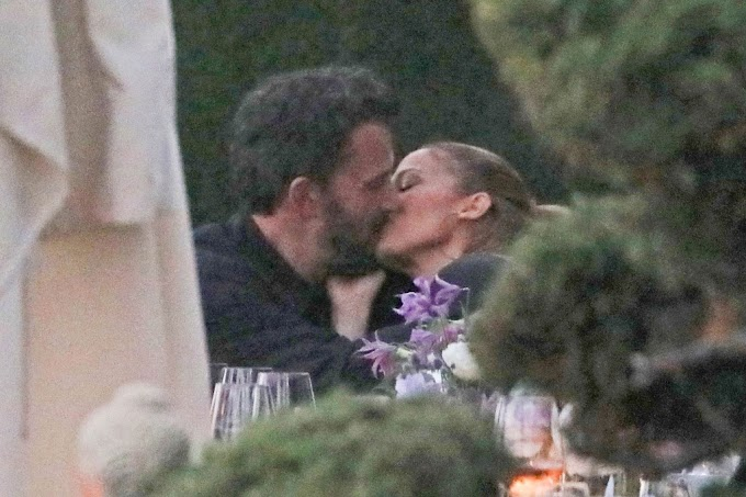 Ben Affleck And Jennifer Lopez Kissing At Her Sister's Dinner Party (Photos/Video)