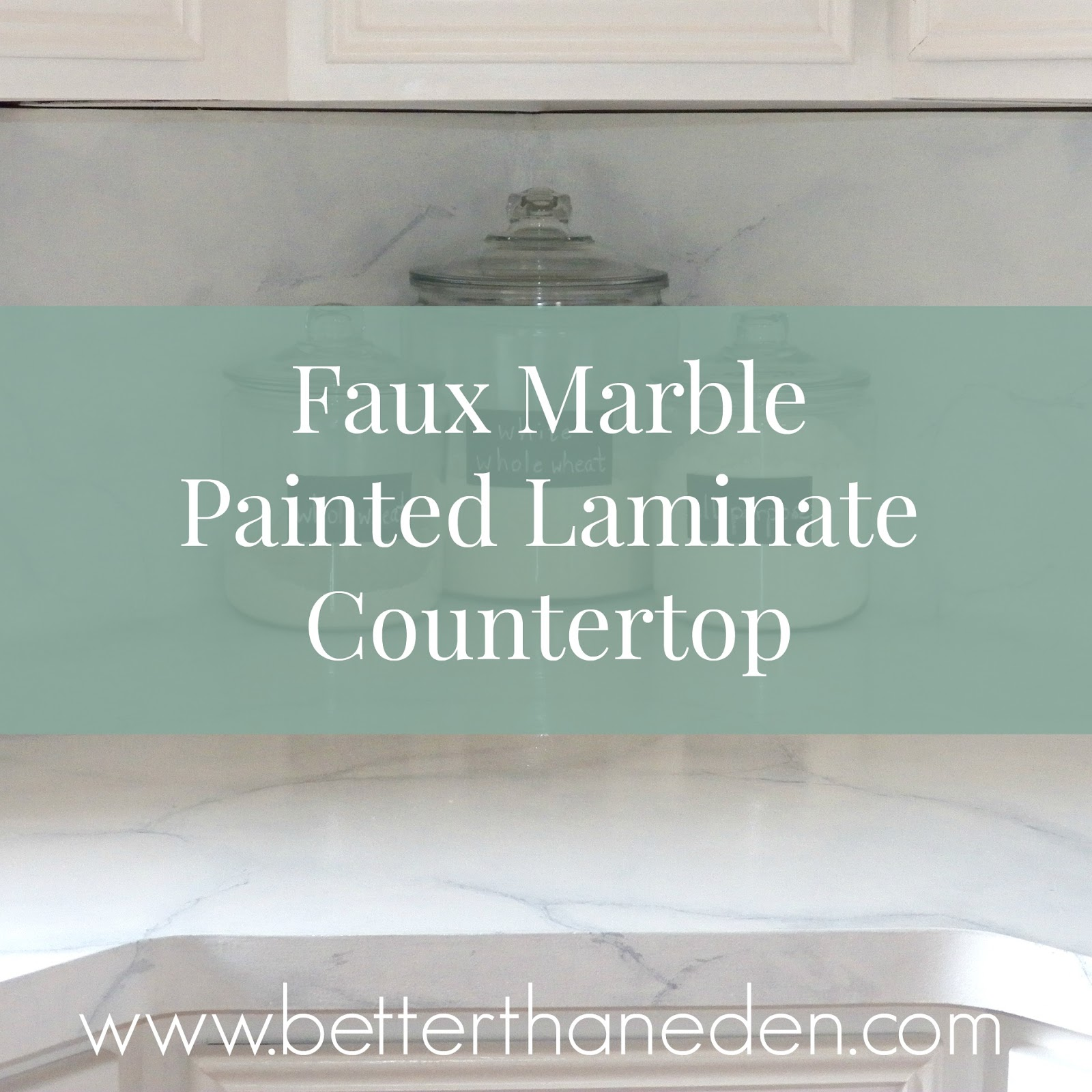 The Kitchen Project - Faux Marble Counters Sort of How-To - Mary ...