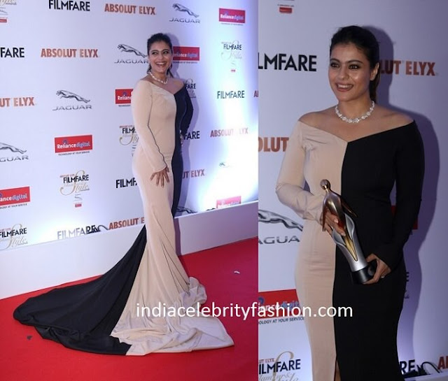Kajol in Nikhil Thampi Half and Half Gown