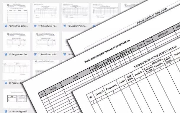 Format Administrasi Perpustakaan Sekolah Lengkap