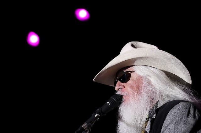 Leon Russell performs at the 2011 Stagecoach Festival. CREDIT: Frazer Harrison/Getty Images