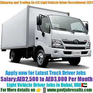 Shipping Trading and Lighterage Co LLC Light Vehicle Driver Recruitment 2021-22