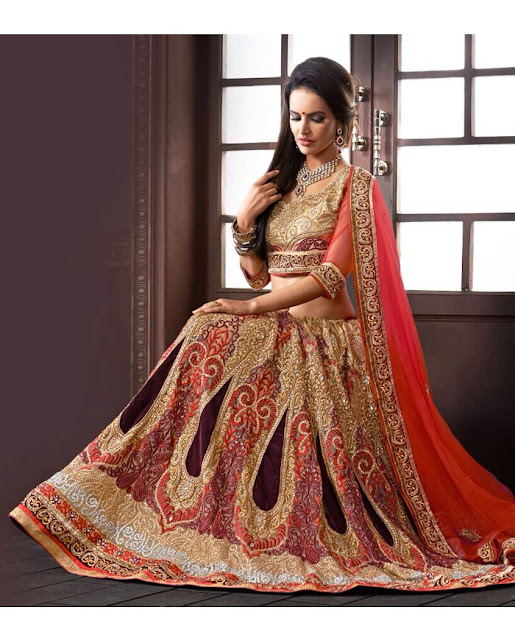 Heavy borders of intricate embroidery or gota patti
