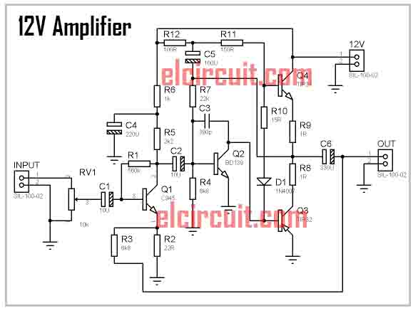 diy mini 12volt power amplifier