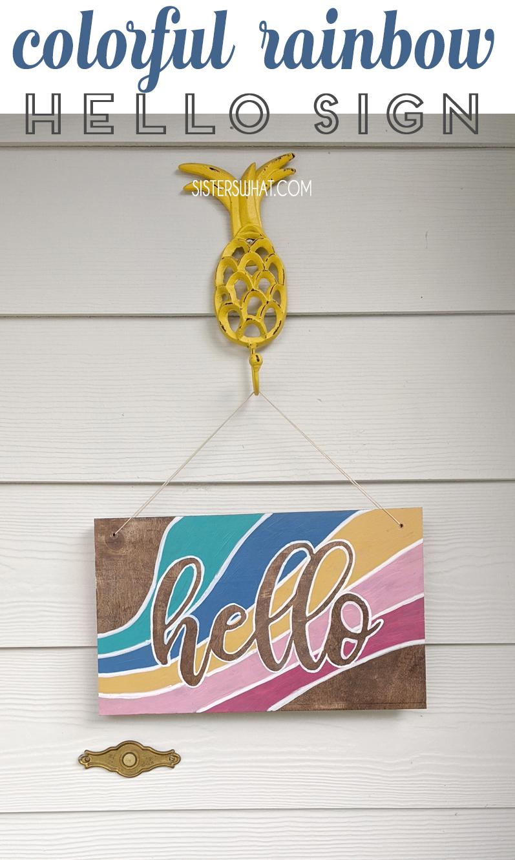 diy hello sign front door