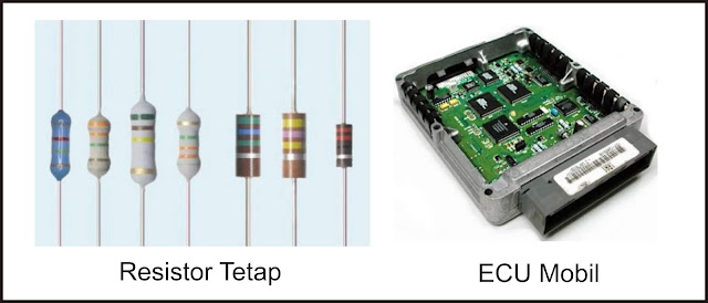 Aplikasi Resistor tetap pada mobil