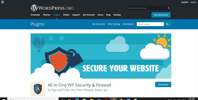 All in One WP Security Plugin and FireWall