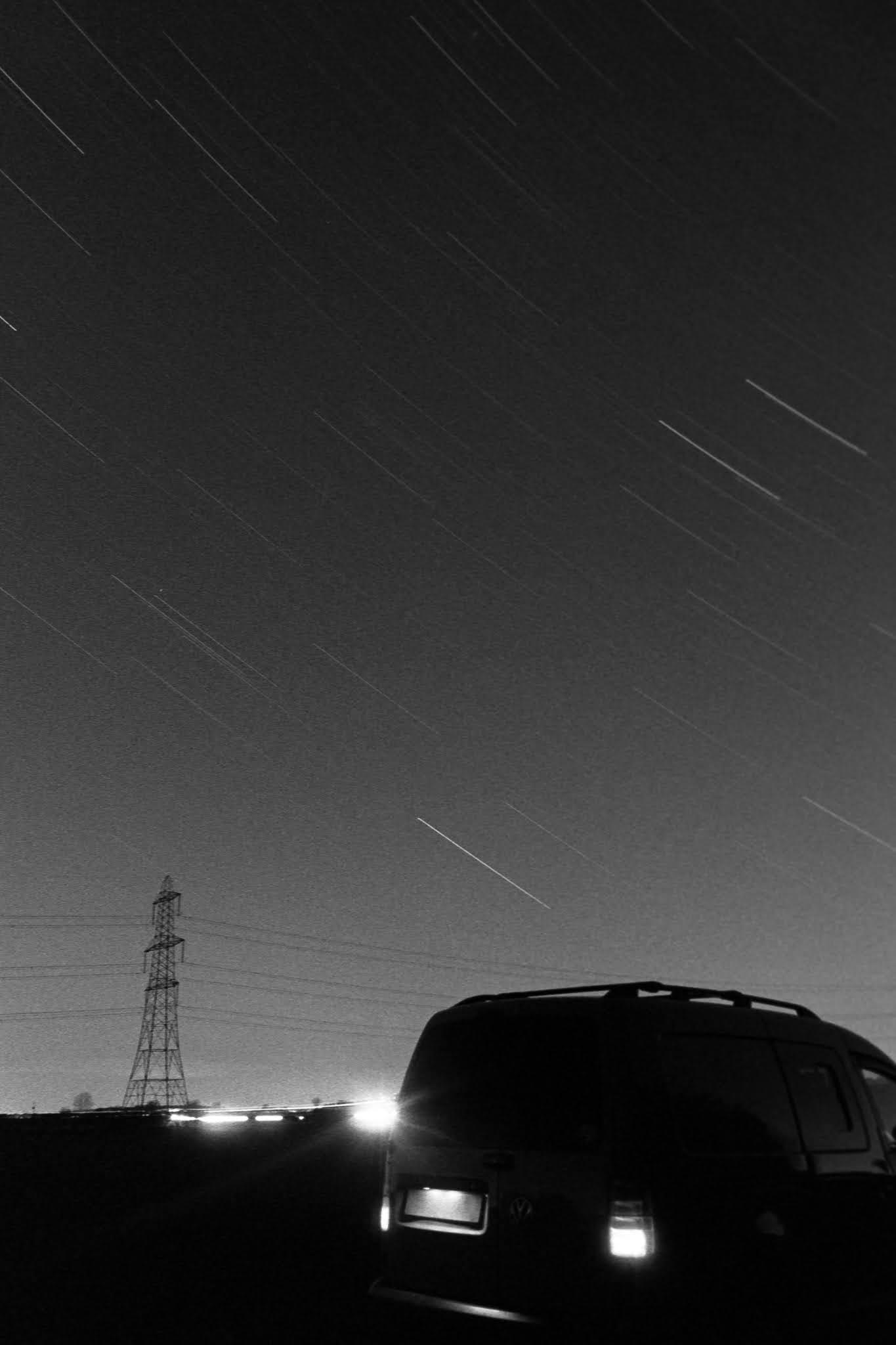 star trails on film