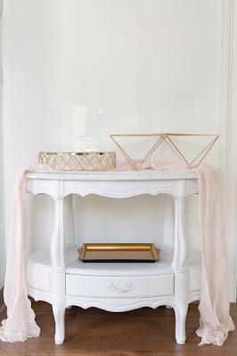 At Last Wedding Studio white table rental
