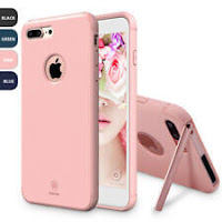 For Apple iPhone 7/8/7 Plus Hidden Magnetic Kickstand Slim Hybrid TPU Case Cover