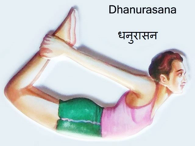 Dhanurasana: Dhanurasana in Hindi