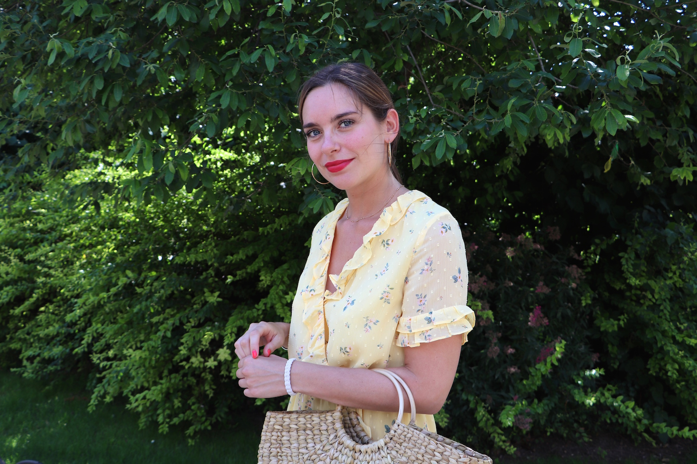 robe jaune fleurie h&m 10