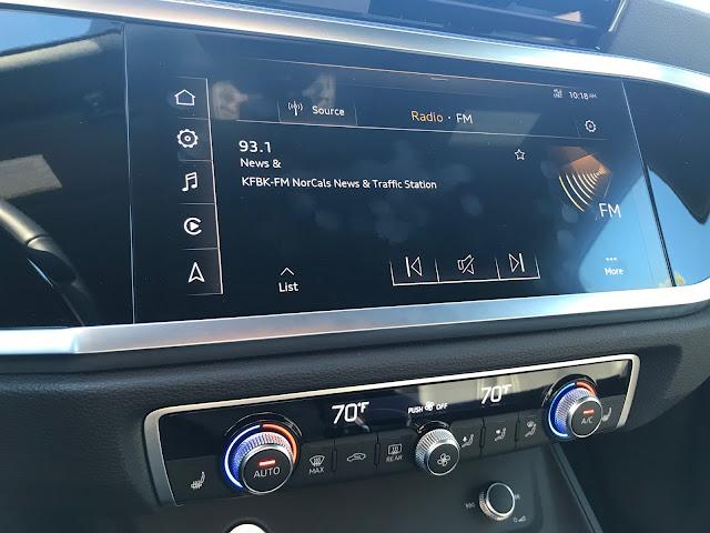HVAC and infotainment in 2019 Audi Q3 S Line quattro