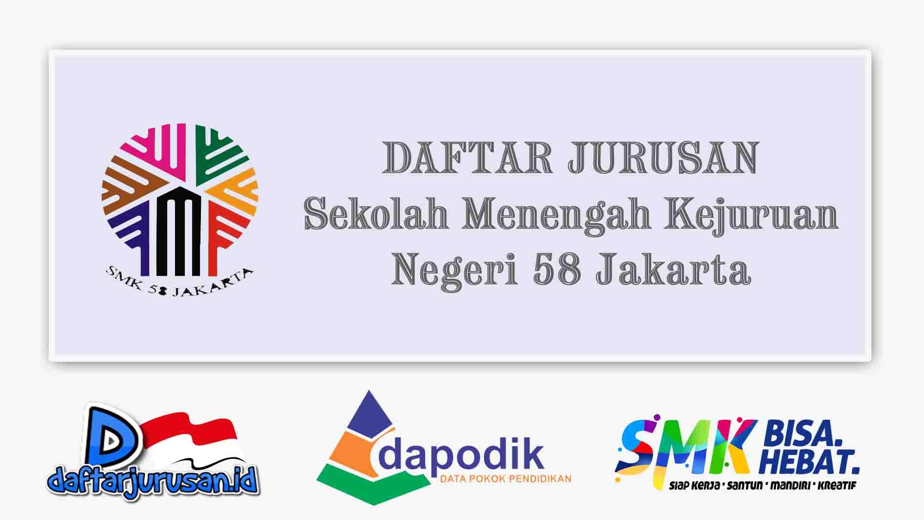 Daftar Jurusan SMK Negeri 58 Jakarta Timur