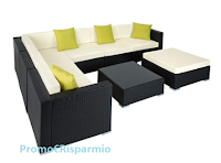 Logo TecTake : vinci gratis 1 elegante set lounge da giardino Marbella del valore di 510,49 €