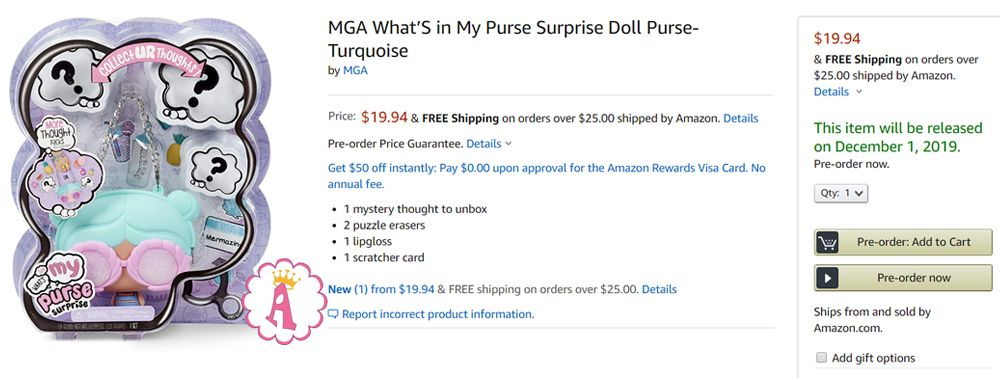 What's in My Purse Surprise Doll цена