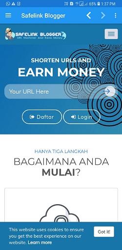 Cara Mendapatkan Uang Dari Aplikasi Safelink Blogger Android
