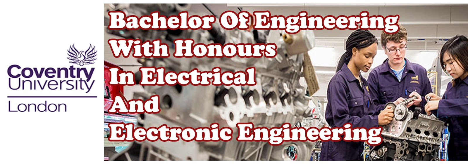 Bachelor Of Engineering With Honours In Electrical And Electronic Engineering | University of Coventry | PSB Academy Singapura