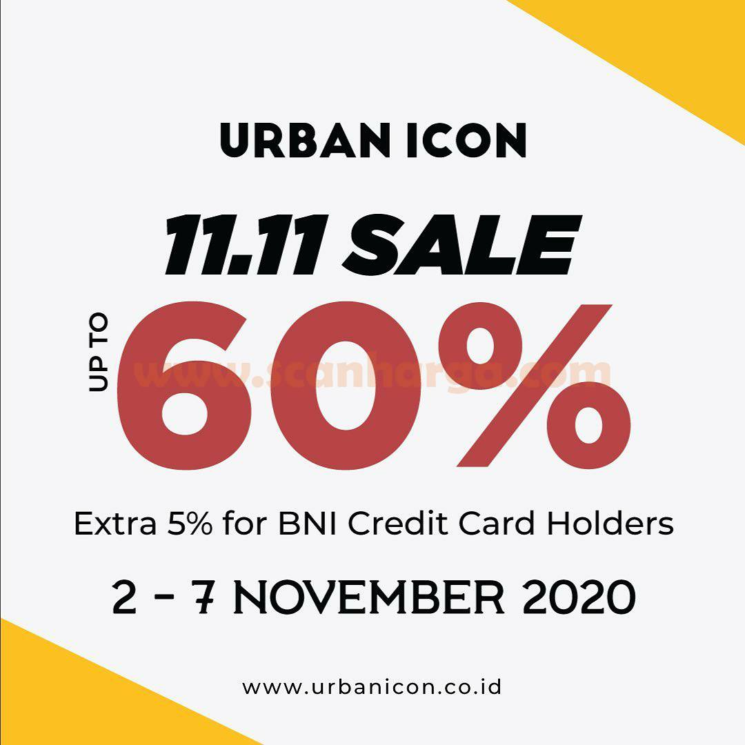 Urban Icon Promo 11.11 Sale Up to 60% [Extra 5% for BNI Credit Card Holder]